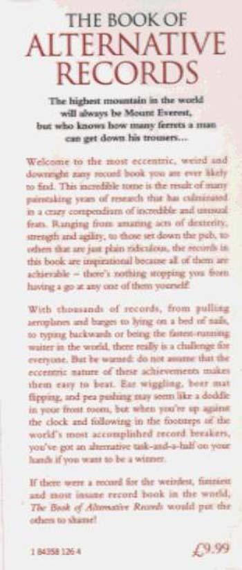 The Book of Alternative Records (Hardback)