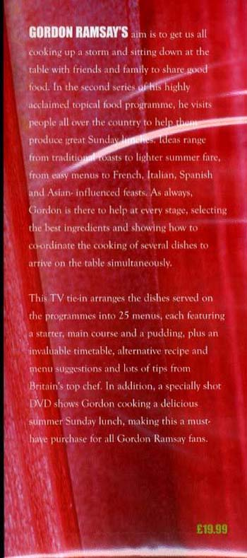"Gordon Ramsay's Sunday Lunch: And Other Recipes from ""The F Word"" (Hardback)"