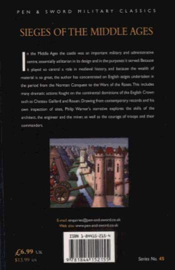 Sieges of the Middle Ages (Paperback)