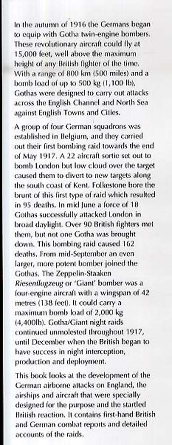 The Battle of Britain 1917: The First Heavy Bomber Raids on England (Hardback)
