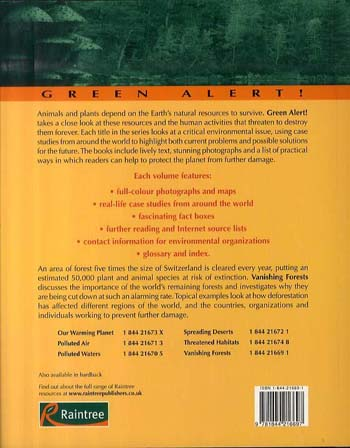 Vanishing Forests - Green Alert (Paperback)