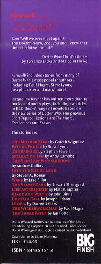 Farewells - Doctor Who: Short Trips No. 16 (Hardback)