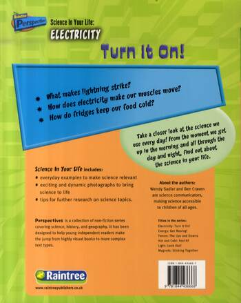 Electricity: Turn it on - Raintree Perspectives: Science in Your Life (Paperback)