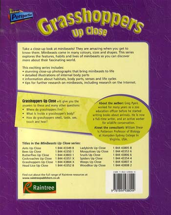 Grasshoppers Up Close - Raintree Perspectives: Minibeasts Up Close (Paperback)