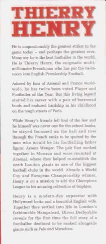 Thierry Henry (Hardback)