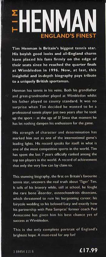 Tim Henman: England's Finest (Hardback)