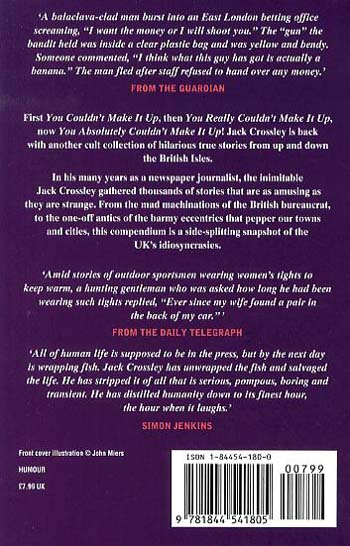 You Absolutely Couldn't Make it Up (Paperback)