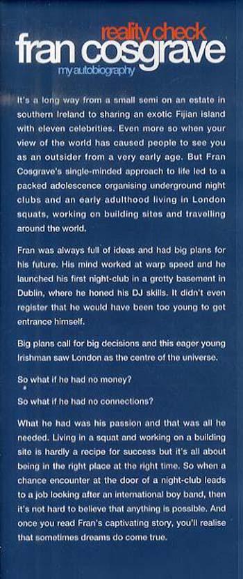 Fran Cosgrave: Reality Check (Hardback)