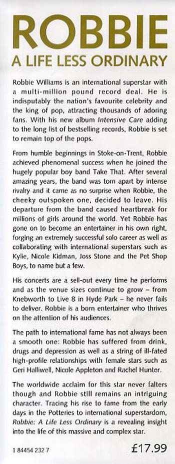 Robbie: A Life Less Ordinary (Hardback)