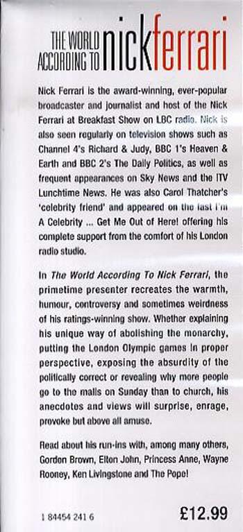 The World According to Nick Ferrari (Hardback)