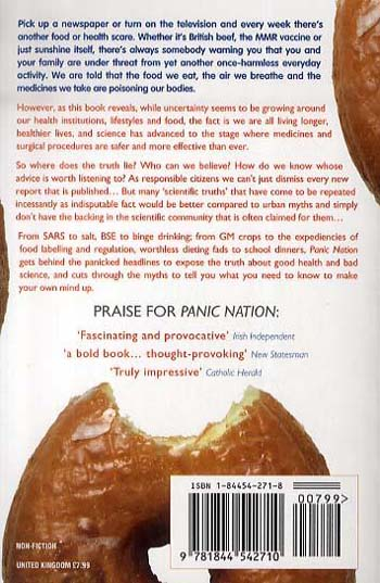 Panic Nation: Unpicking the Myths We're Told About Food and Health (Paperback)
