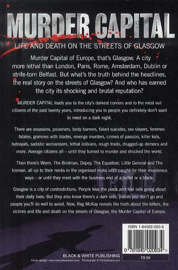 Murder Capital: Life and Death on the Streets of Glasgow's (Paperback)
