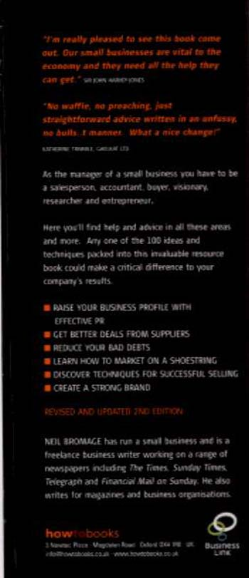 100 Ways to Business Success: A Resource Book for Small Business Managers (Paperback)