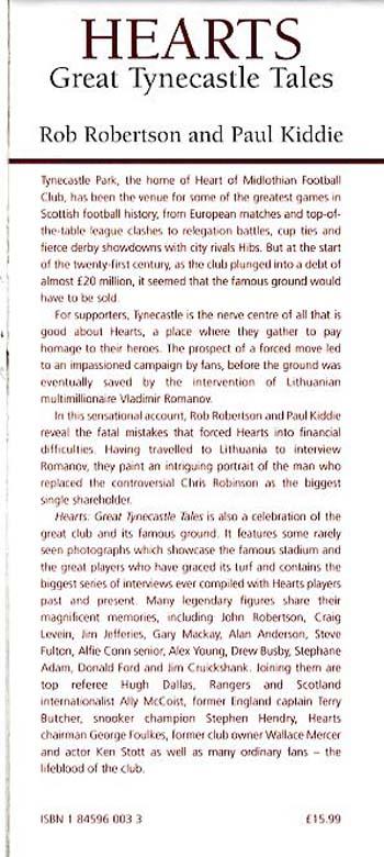 Hearts: Great Tynecastle Tales (Hardback)