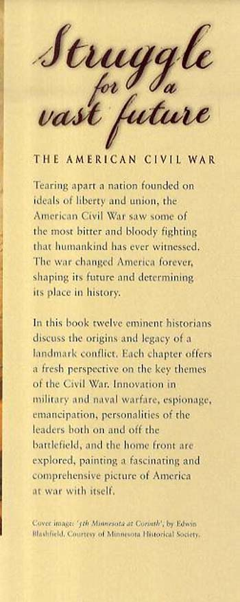 Struggle for a Vast Future: American Civil War (Hardback)