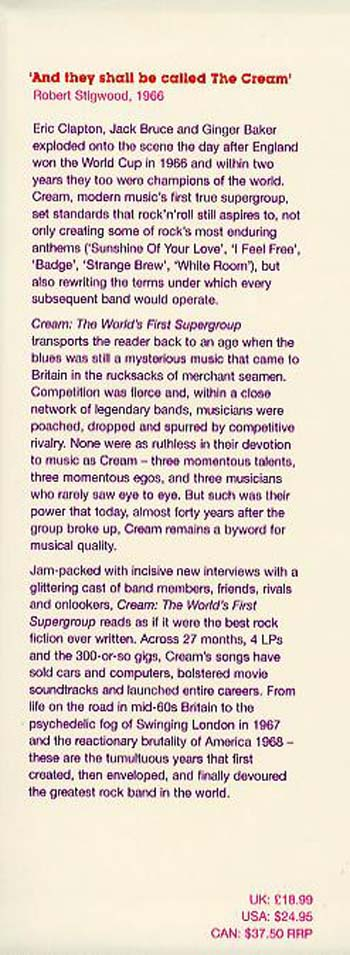 Cream: The World's First Supergroup Influential Bands Since the Beatles (Hardback)