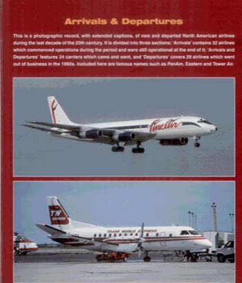 Arrivals and Departures: North American Airlines 1990-2000 (Paperback)