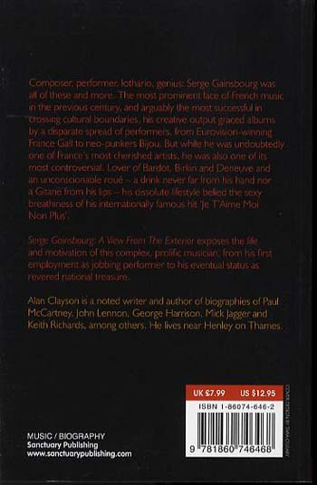 Serge Gainsbourg: View from the Exterior - Sanctuary Encores S. (Paperback)