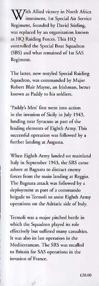 "SAS: The History of the Special Raiding Squadron ""Paddy's Men"" (Hardback)"