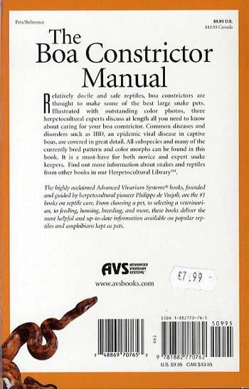 Boa Constrictor Manual (Paperback)