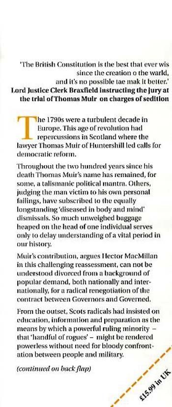 Handful of Rogues: Thomas Muir's Enemies of the People (Hardback)