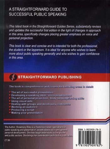 Straightforward Guide To Successful Public Speaking (Paperback)
