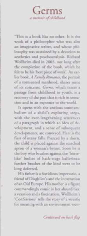 Germs: A Memoir of Childhood (Hardback)