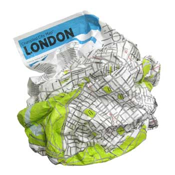 London Crumpled City Map - Crumpled City Maps (Sheet map)