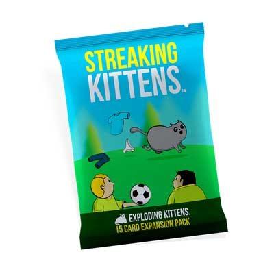 Streaking Kittens Exploding Kittens 15 Card Second Expansion Pack Game
