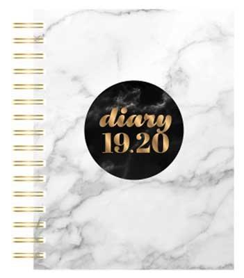Grey Marble Scandi Desk  2019-2020 (Diary)