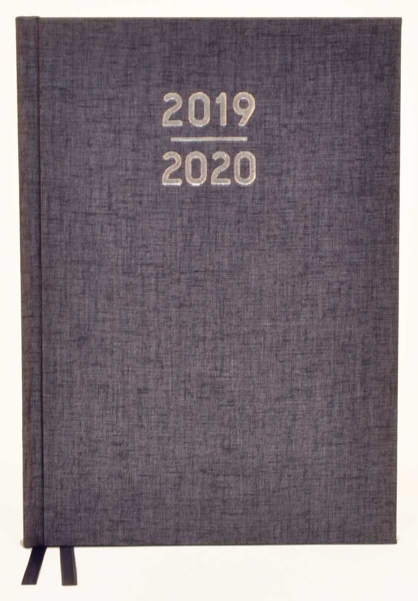 Waterstones Signature Grey Desk Diary 2019-2020 (Diary)