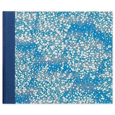 White Blossom Blue Medium Photo Album