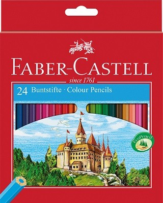 Faber Colouring Pencils Carton Box Of 24