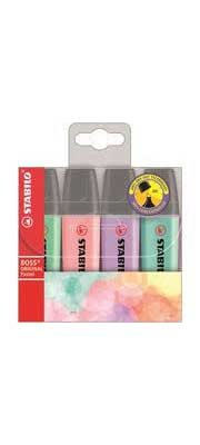 Stabilo Boss Pastel Highlighters (Pack Of 4)