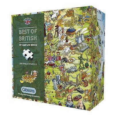 Best of British 500 piece jigsaw puzzle