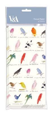 Edward Lear Birds Tissue Paper