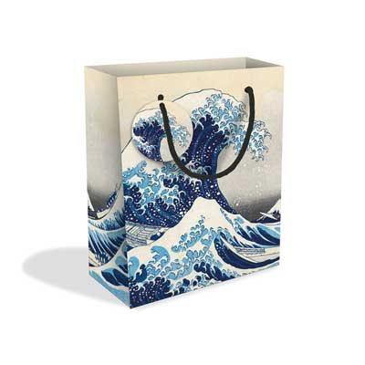 Hokusai Wave Medium Gift Bag