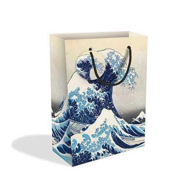 Hokusai Wave Large Gift Bag