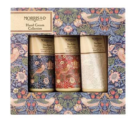 Morris & Co Strawberry Thief Hand Cream Trio