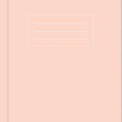 A5 Pastel Pink Exercise Book: Lined