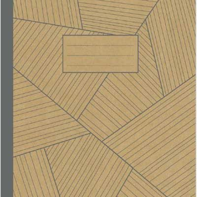 A4 Kraft Grey Geo Exercise Book: Lined