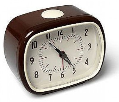 Retro Alarm Clock Chocolate
