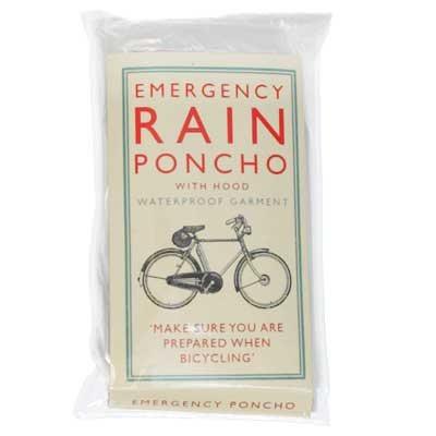 Plastic rain poncho