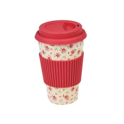 Bamboo Travel Mug: La Petite Rose