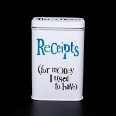 Receipt Tin