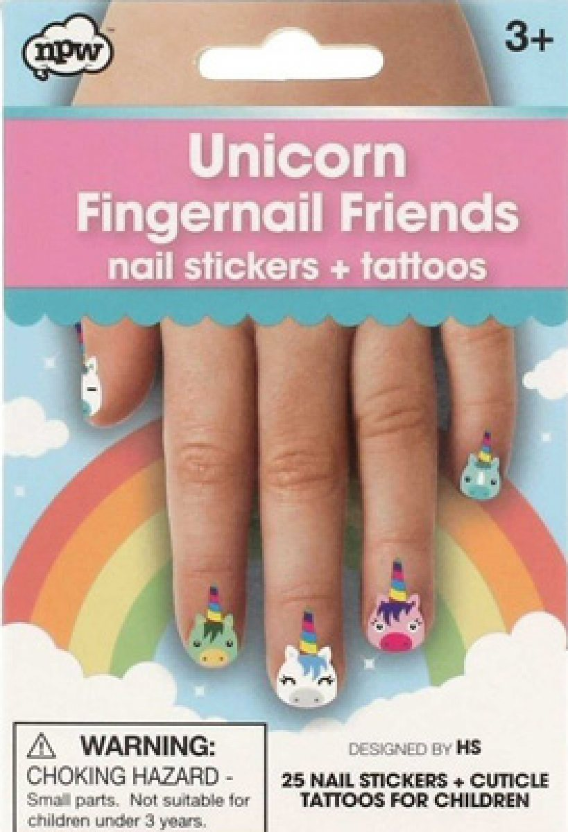 Unicorn Fingernail Friends & Cuticle Tattoos