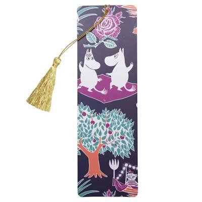 Moomin Picnic Pattern With Tassle Bookmark