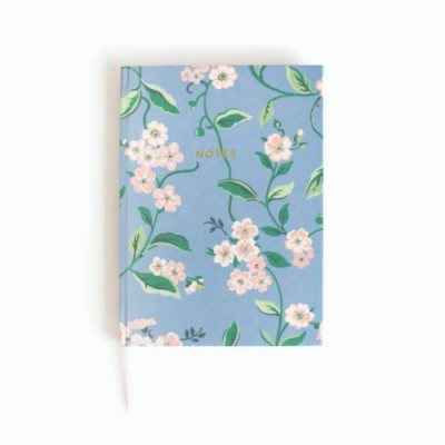Hawthorn White & Blue Floral Cath Kidston A6 Notebook