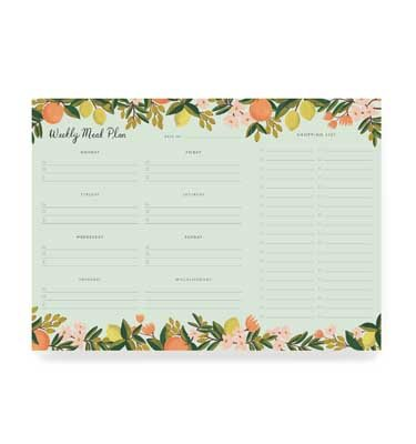 Rifle Paper Meal Planner