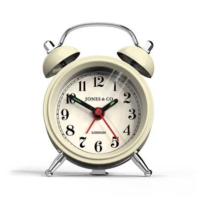 Mini Cream Bell Clock